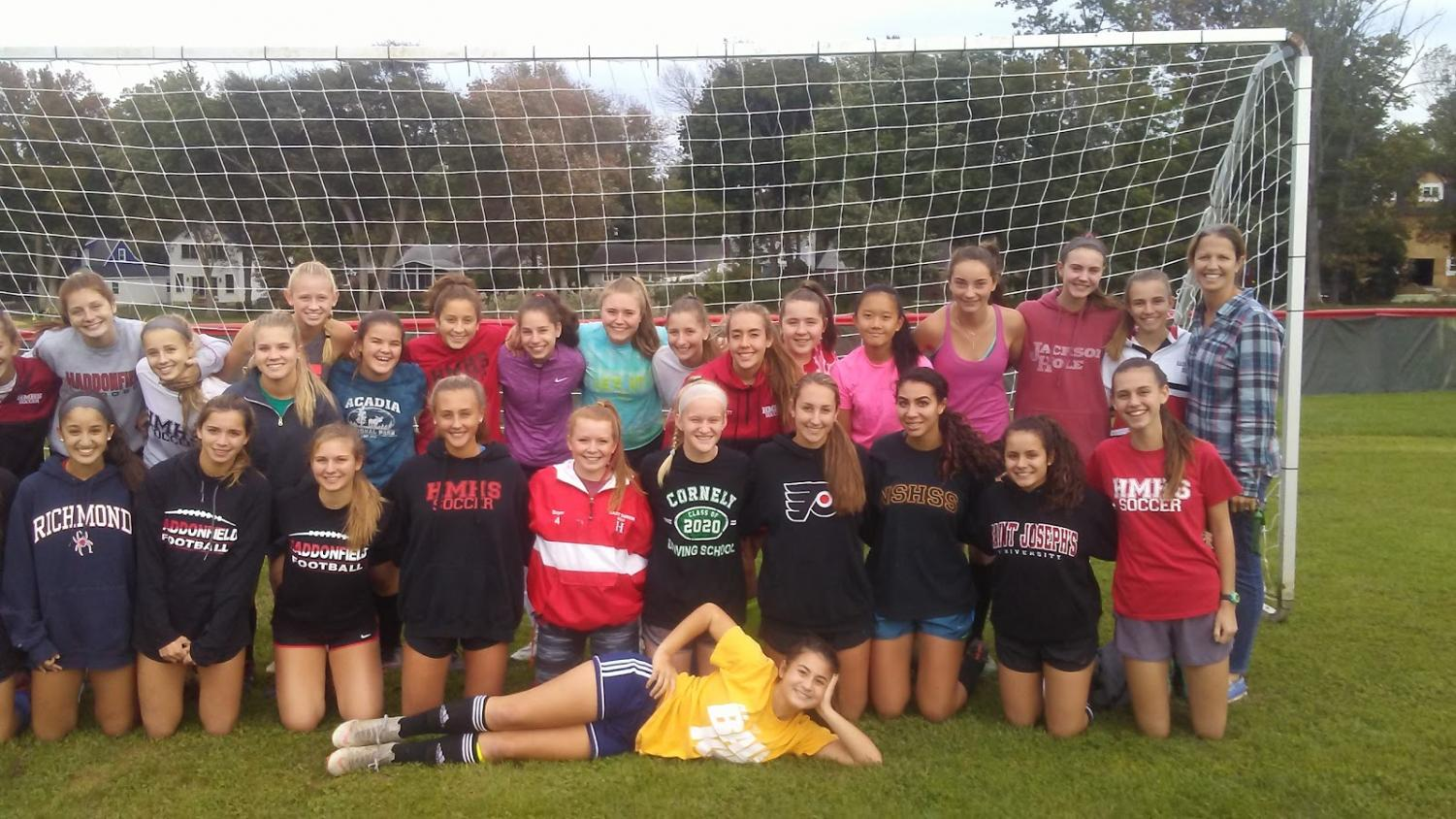 Members of the 2018 HMHS Girls' Soccer Team