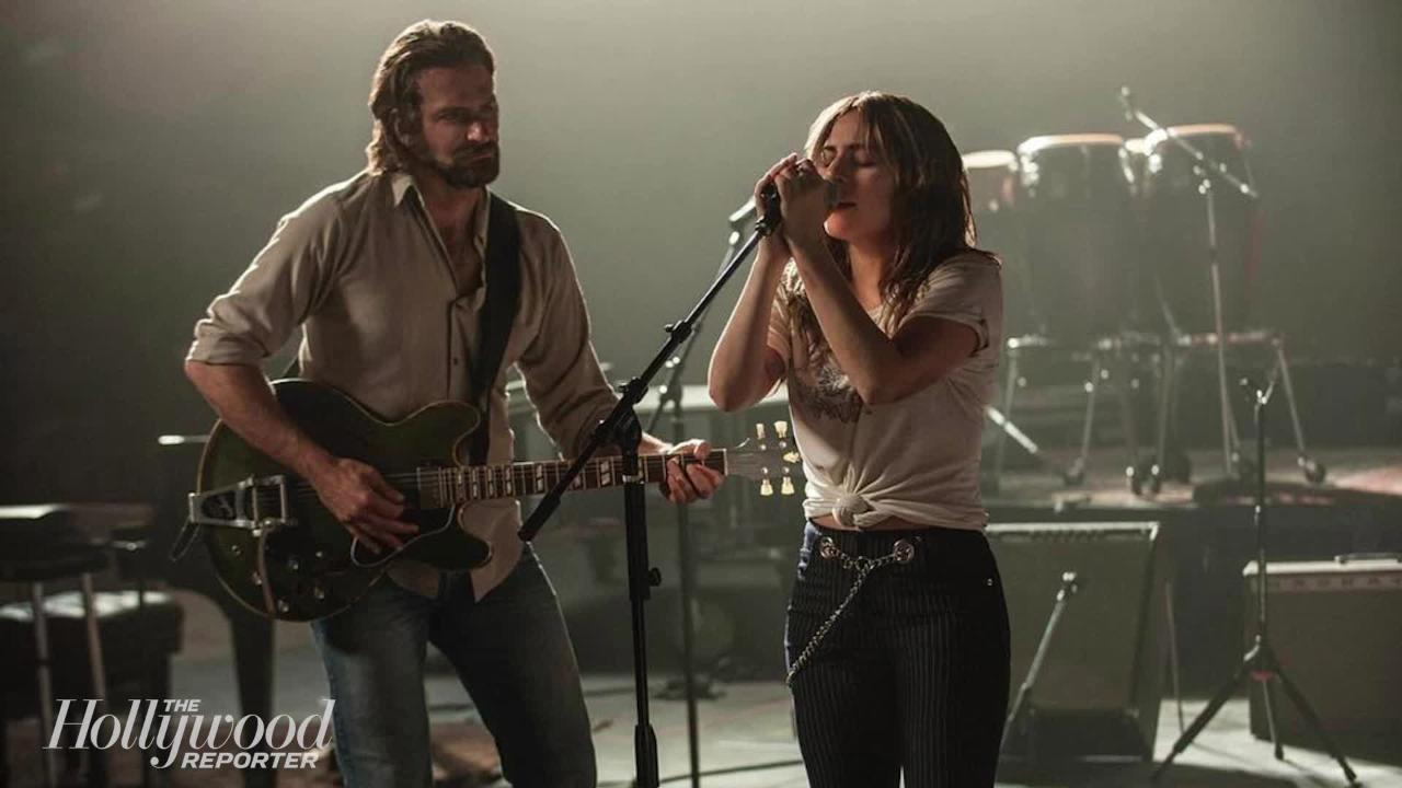 Bradley Cooper, pictured alongside Stephanie Germanotta (Lady Gaga) in A Star is Born