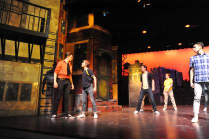 Still photo from HMHSs production of West Side Story